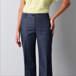 LOFT Ann Style Wide Leg Trouser Pants